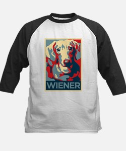 Vote Wiener! Kids Baseball Jersey