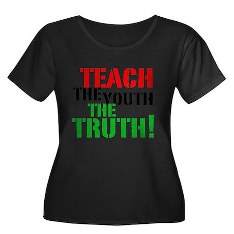 Teach the Youth Women's Plus Size Scoop Neck Dark