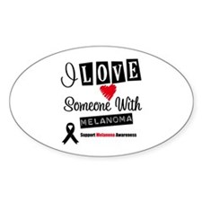 Melanoma Support Oval Decal