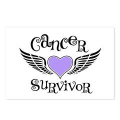 Cancer Survivor Lavender Postcards (Package of 8)