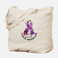 Flower Ribbon LUPUS Tote Bag