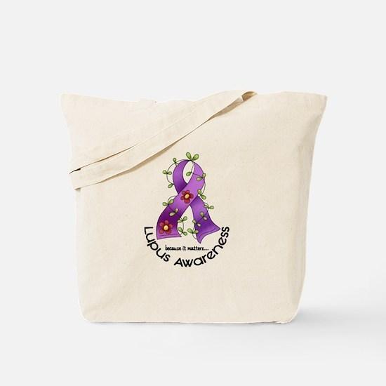 Flower Ribbon LUPUS Tote Bag