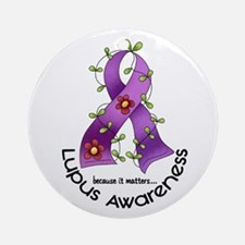 Flower Ribbon LUPUS Ornament (Round)