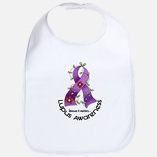 Flower Ribbon LUPUS Bib