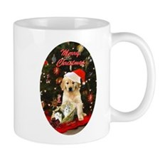 Golden retriever and kittens Mug