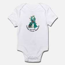 Flower Ribbon OVARIAN CANCER Infant Bodysuit