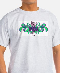 Dica's Butterfly Name Ash Grey T-Shirt