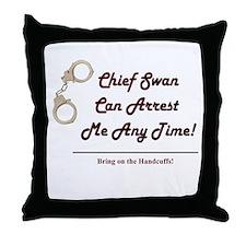 Arrest Me Charlie Throw Pillow