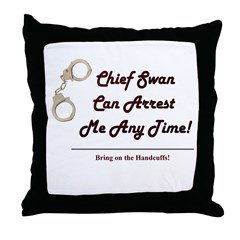 Arrest Me Charlie Throw Pillow