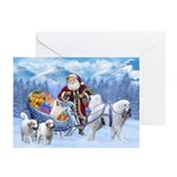 Great pyrenees christmas Greeting Cards (10 Pack)