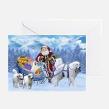 Great Pyrenees Santa Greeting Cards (pk Of 10)
