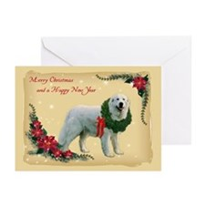 Great Pyrenees Greeting Cards (Pk of 10),Christmas