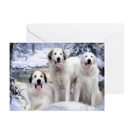 Great Pyrenees Greeting Cards 3 Pyrs (pk Of 10)