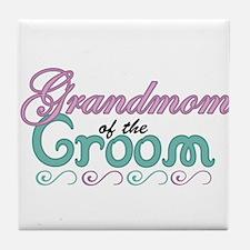 Grandmom of the Groom Tile Coaster