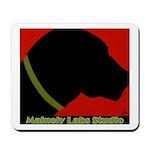 Black Lab Profile Mousepad W/logo