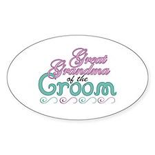 Great Grandma of the Groom Oval Decal