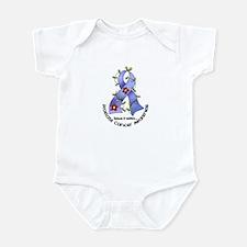 Flower Ribbon PROSTATE CANCER Infant Bodysuit
