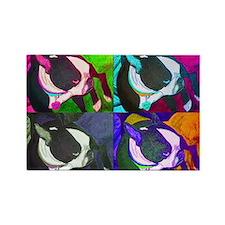 Boston Terrier Pop Art Poster Rectangle Magnet (10