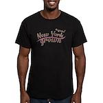 Organic! New York Grown! Men's Fitted T-Shirt (dar