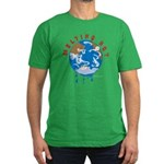 Earth Day ; Melting hot earth Men's Fitted T-Shirt