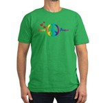 Love & Peace Designs. Rainbow Men's Fitted T-S