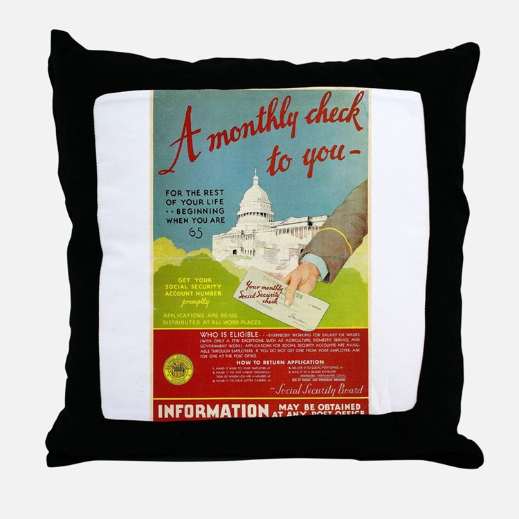 Social Security Throw Pillow