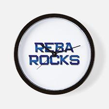 reba rocks Wall Clock