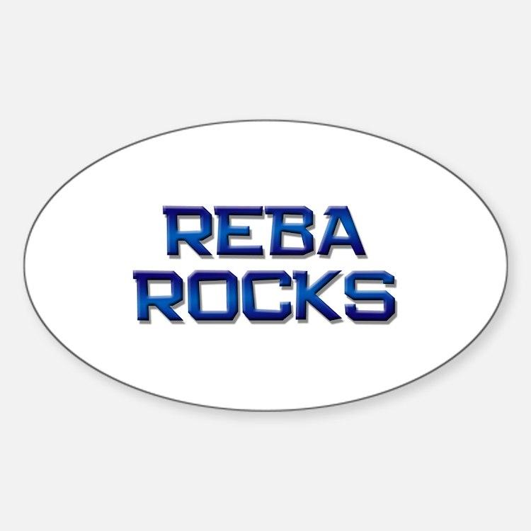 reba rocks Oval Decal