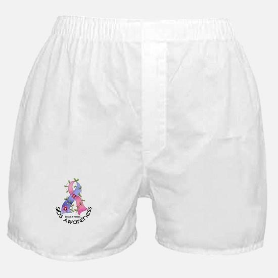Flower Ribbon SIDS Boxer Shorts