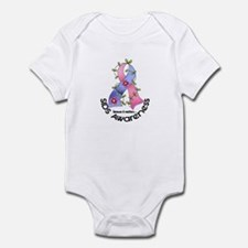 Flower Ribbon SIDS Infant Bodysuit