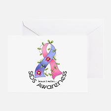 Flower Ribbon SIDS Greeting Card
