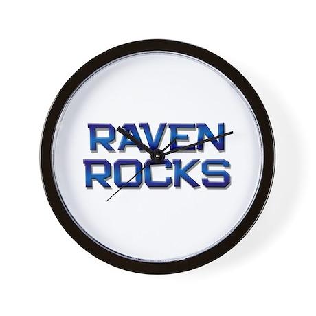 raven rocks Wall Clock