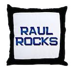 raul rocks Throw Pillow