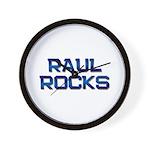 raul rocks Wall Clock