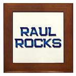 raul rocks Framed Tile