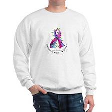 Flower Ribbon THYROID CANCER Sweatshirt