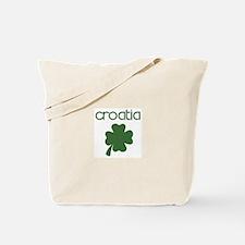 Croatia shamrock Tote Bag