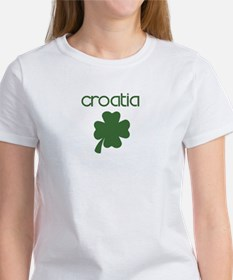 Croatia shamrock Women's T-Shirt