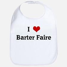 I Love Barter Faire Bib