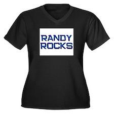 randy rocks Women's Plus Size V-Neck Dark T-Shirt