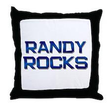 randy rocks Throw Pillow
