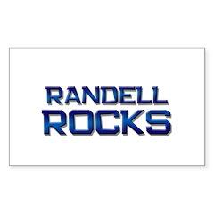 randell rocks Rectangle Sticker