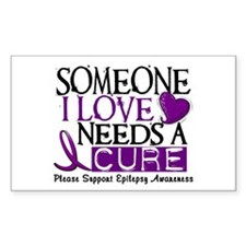 Needs A Cure EPILEPSY Rectangle Decal