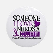Needs A Cure EPILEPSY Ornament (Round)