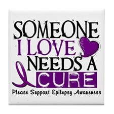 Needs A Cure EPILEPSY Tile Coaster
