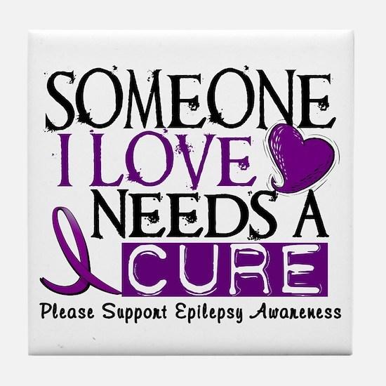 Needs A Cure EPILEPSY Tile Coaster