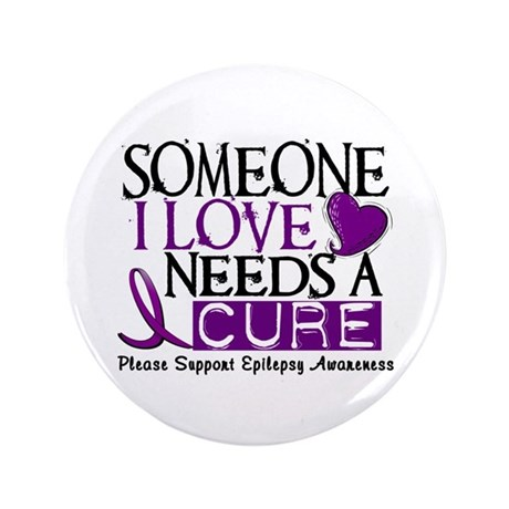 """Needs A Cure EPILEPSY 3.5"""" Button (100 pack)"""