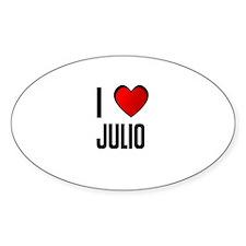 I LOVE JULIO Oval Decal