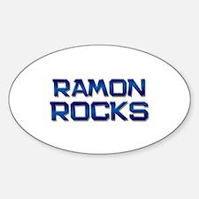 ramon rocks Oval Decal