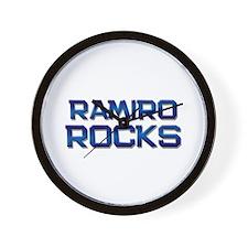 ramiro rocks Wall Clock